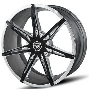 "22"" Diablo-Gianna Wheels Flare Chrome with Black Inserts Rims"