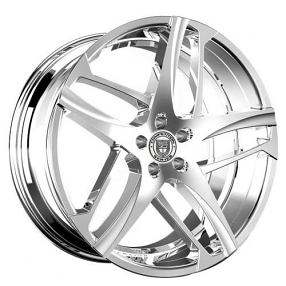 "24"" Lexani Wheels Bavaria Chrome Rims"