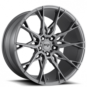 "20"" Staggered Niche Wheels M182 Staccato Anthracite Rims"