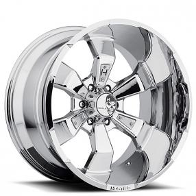 """20"""" Hostile Wheels Hammered Chrome Rims"""