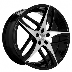 "24"" Lexani Wheels Bavaria Black Machined Rims"