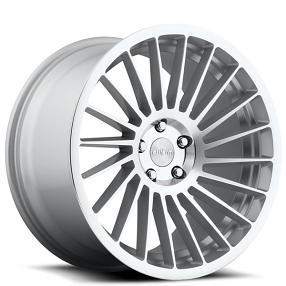 """19"""" Staggered Rotiform Wheels R125 IND-T Silver Machined Rims"""