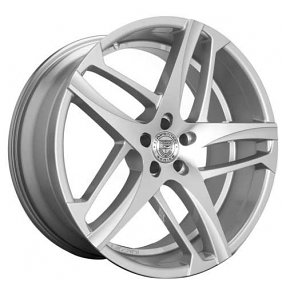 "22"" Staggered Lexani Wheels Bavaria Silver Machined Rims"