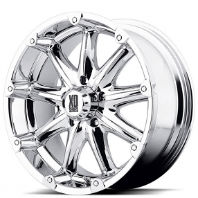 "20"" XD Wheels XD779 Badlands Chrome Off-Road Rims"