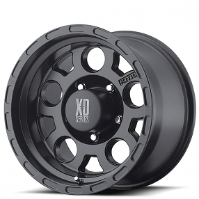 "16"" XD Wheels XD122 Enduro Matte Black Off-Road Rims"