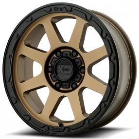 "18"" XD Wheels XD134 Addict 2 Matte Bronze with Matte Black Lip Off-Road Rims"