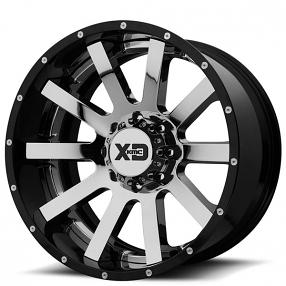 "20"" XD Wheels XD200 Heist Chrome with Gloss Black Milled Lip Off-Road Rims"