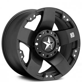 "17"" XD Wheels XD775 Rockstar Matte Black Off-Road Rims"