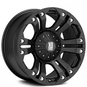 "20"" XD Wheels XD778 Monster Matte Black Off-Road Rims"