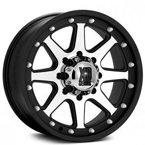 "18"" XD Wheels XD798 Addict Matte Black Machined Off-Road Rims"