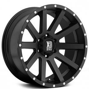 "20"" XD Wheels XD818 Heist Satin Black Off-Road Rims"