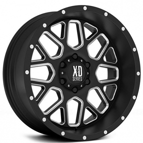 "20"" XD Wheels XD820 Grenade Satin Black Milled Off-Road Rims"