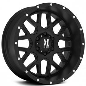 """17"""" XD Wheels XD820 Grenade Satin Black Off-Road Rims"""