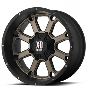 "22"" XD Wheels XD825 Buck25 Matte Black with Dark Tint Off-Road Rims"