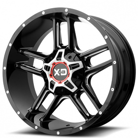"""20"""" XD Wheels XD839 Clamp Gloss Black Milled Off-Road Rims"""