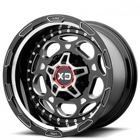 "20"" XD Wheels XD837 Demodog Gloss Black Milled Off-Road Rims"