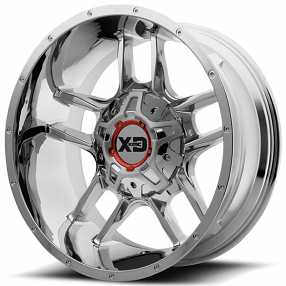 "22"" XD Wheels XD839 Clamp Chrome Off-Road Rims"